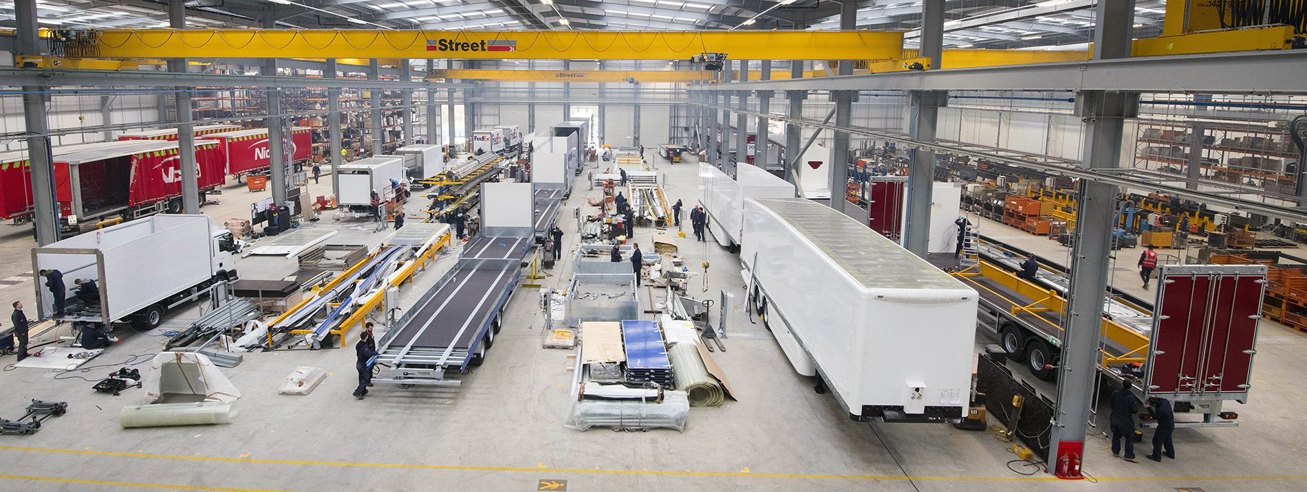 Profile Tiger Trailers factory production lines