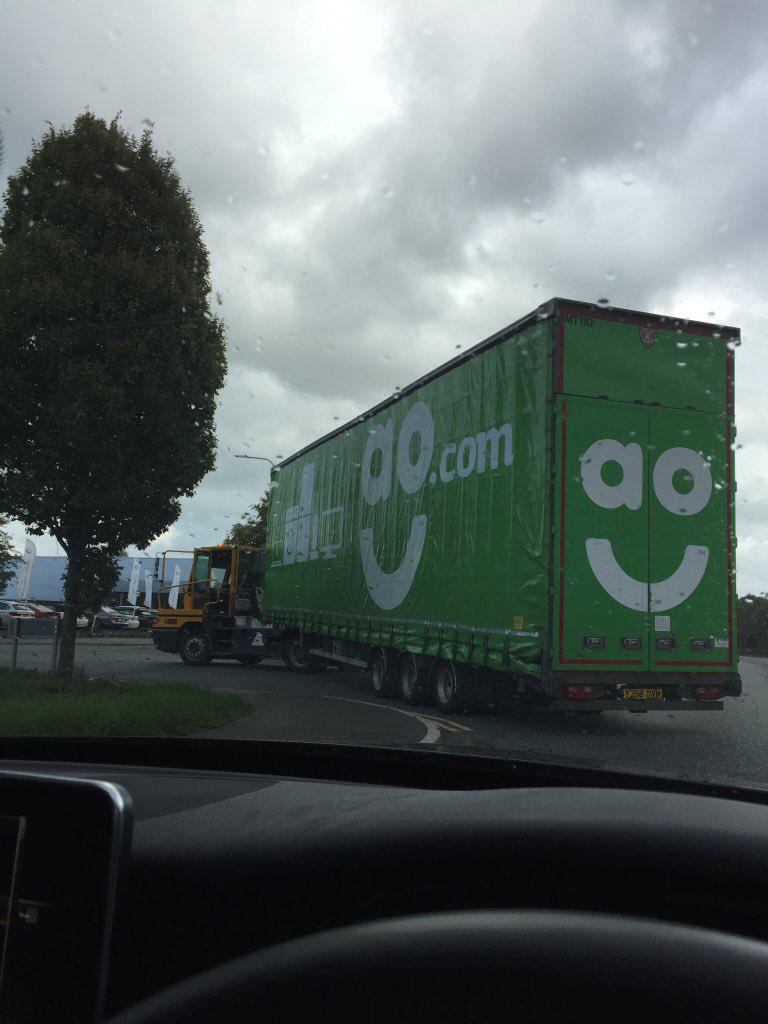 AO appliances online double deck curtainside trailer tag