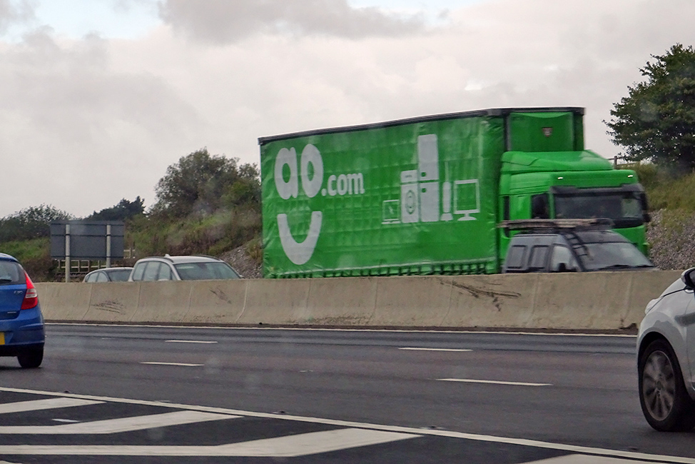 AO double deck curtainsider trailer tagged