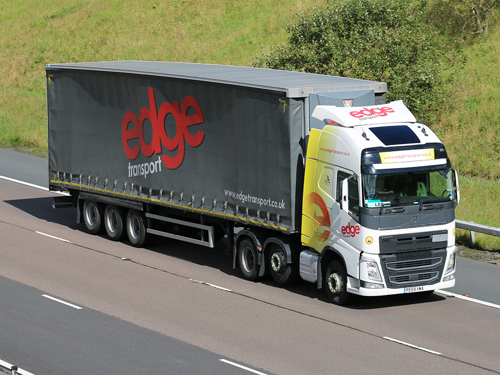 Another Edge Transport curtainsider tag by Tim Pickford
