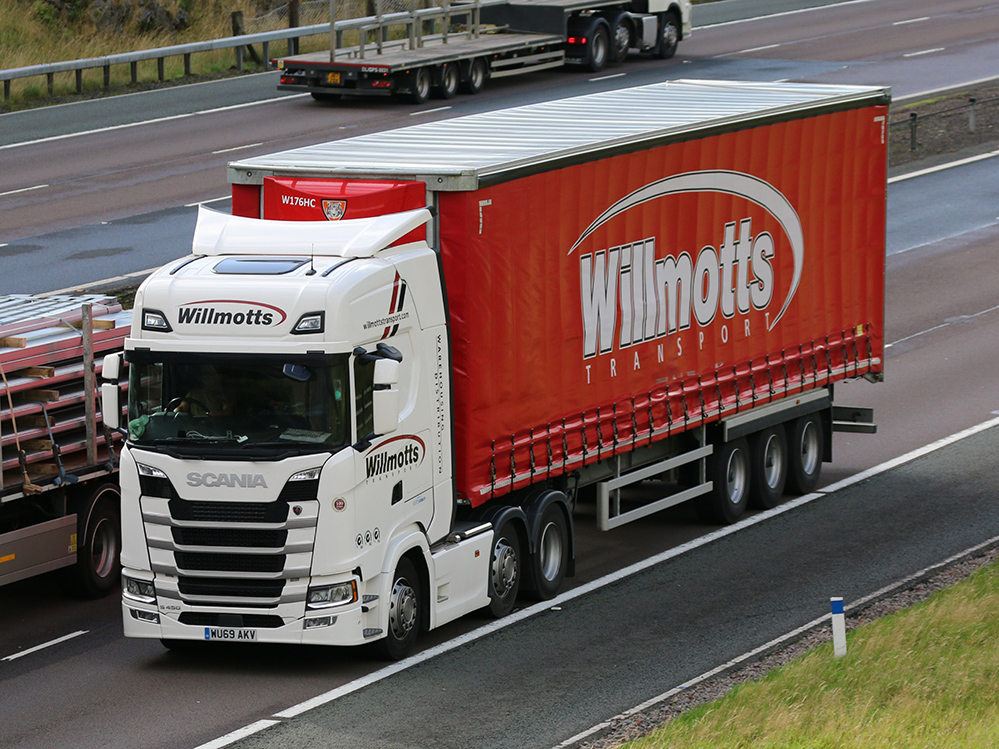 Another Willmotts Transport curtainsider tag by Tim Pickford