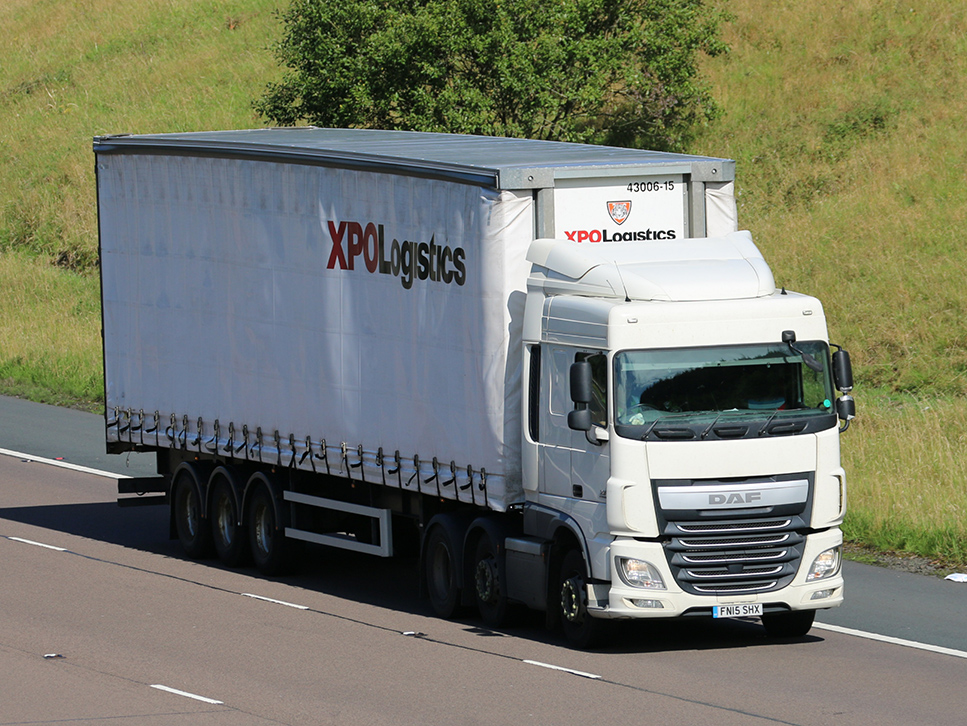 Another XPO Logistics Tiger curtainsider spot by Tim Pickford