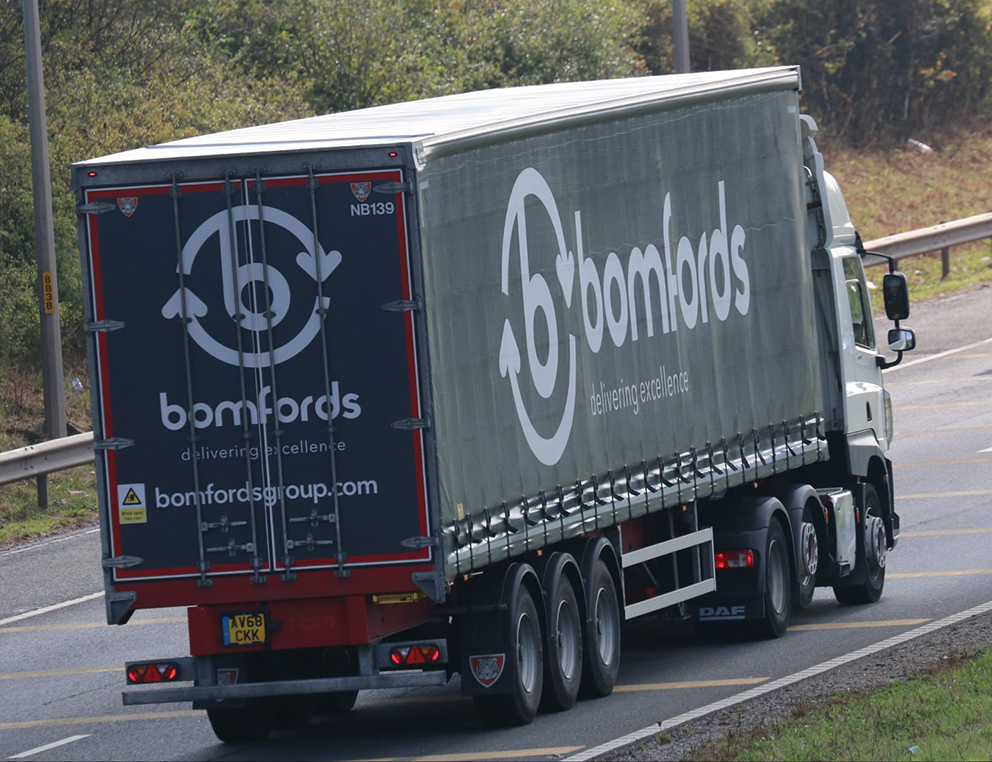 Bomfords Group haulage curtainsider Tiger - Tim Pickford photo