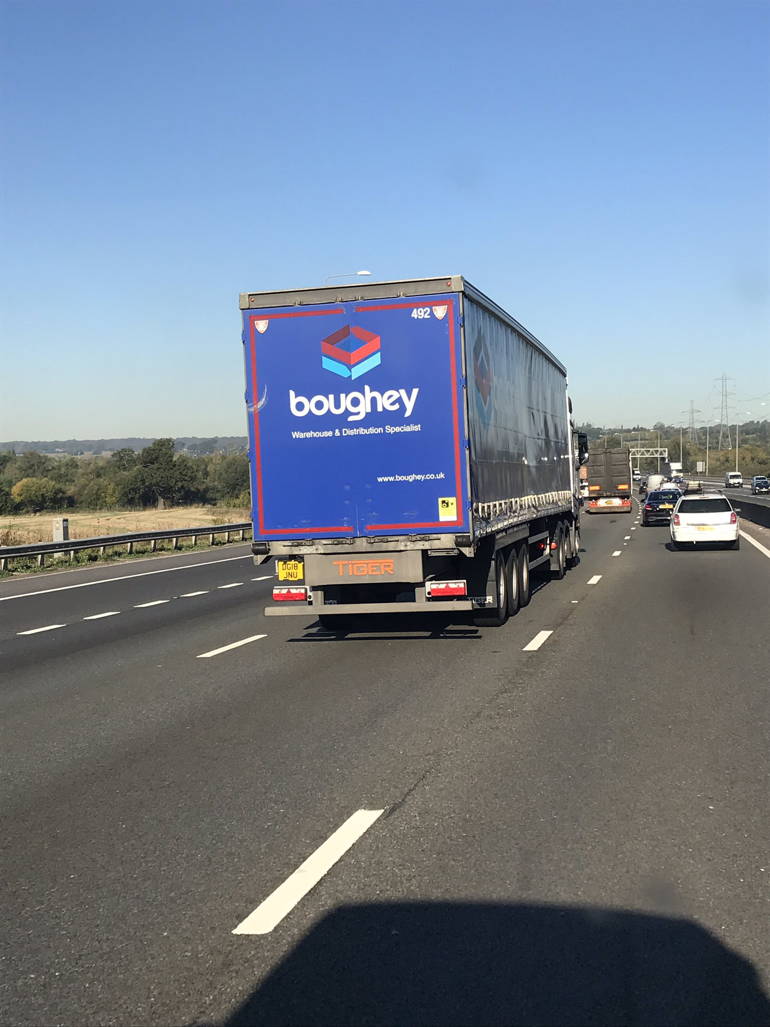 Boughey Distribution motorway tag