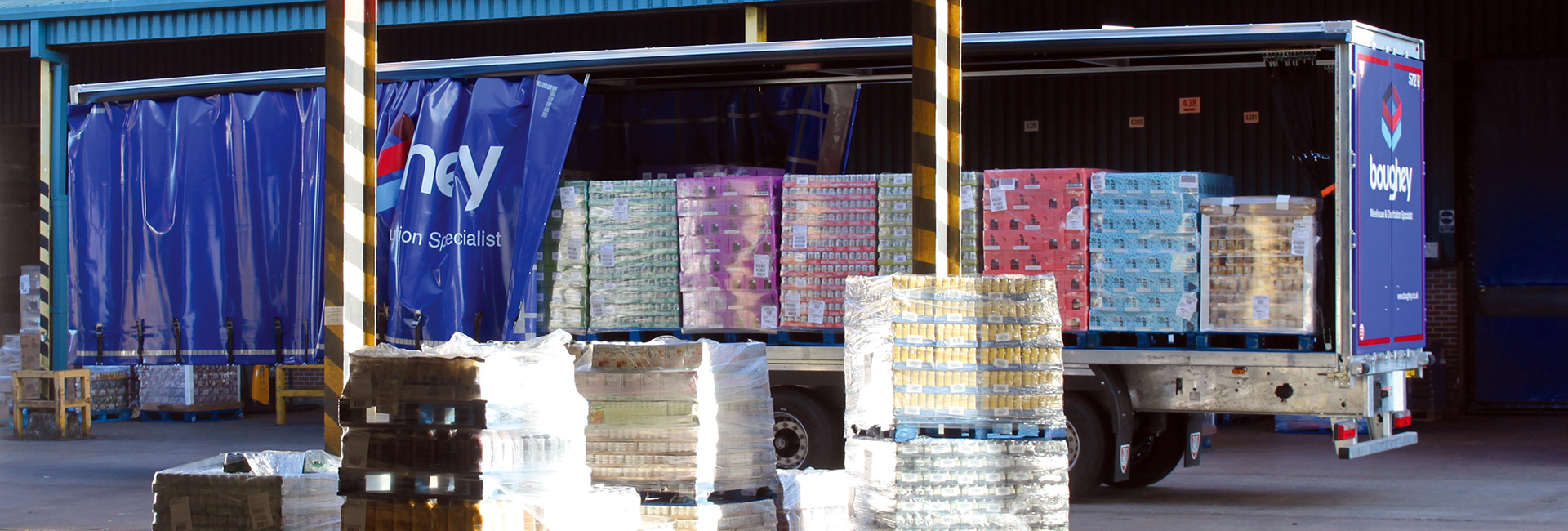 Case study - Boughey Distribution - Curtainsiders curtains load securing restraints pallets