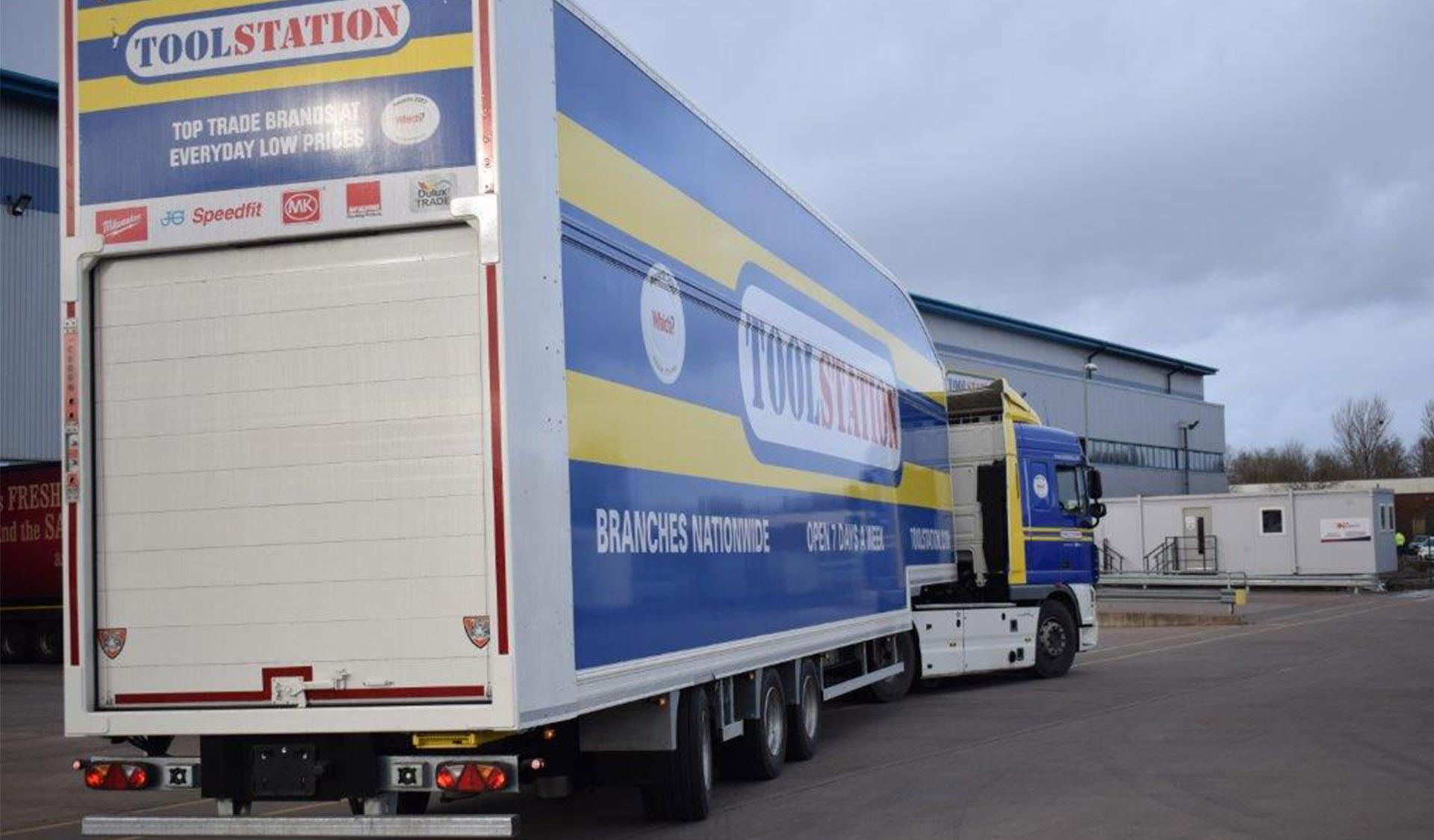 Case study - Howard Tenens 3PL logistics longer semi trailer LST double deck ToolStation rear