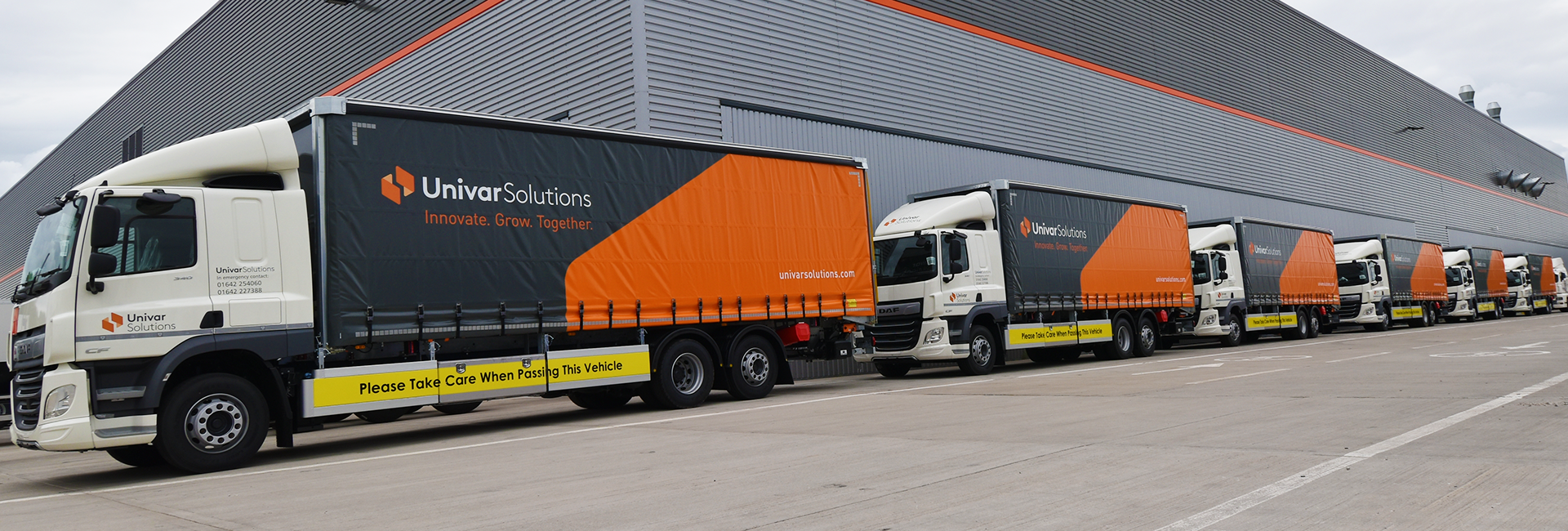 Case study - Univar rigid curtainsider lineup