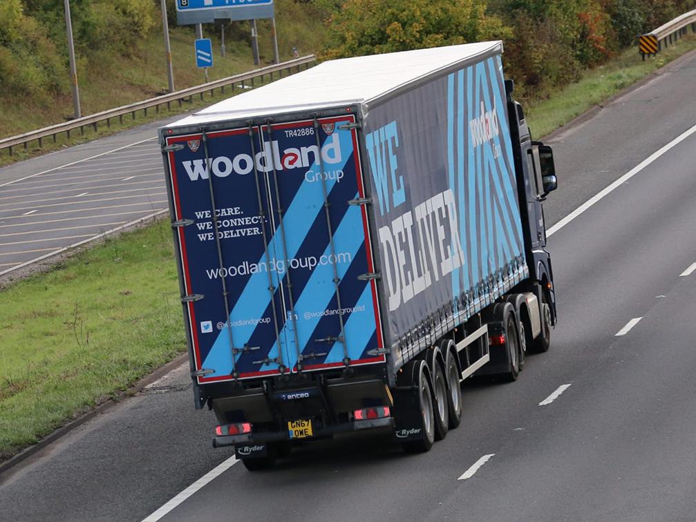 Curtainside trailer Woodland Group Tiger - Tim Pickford