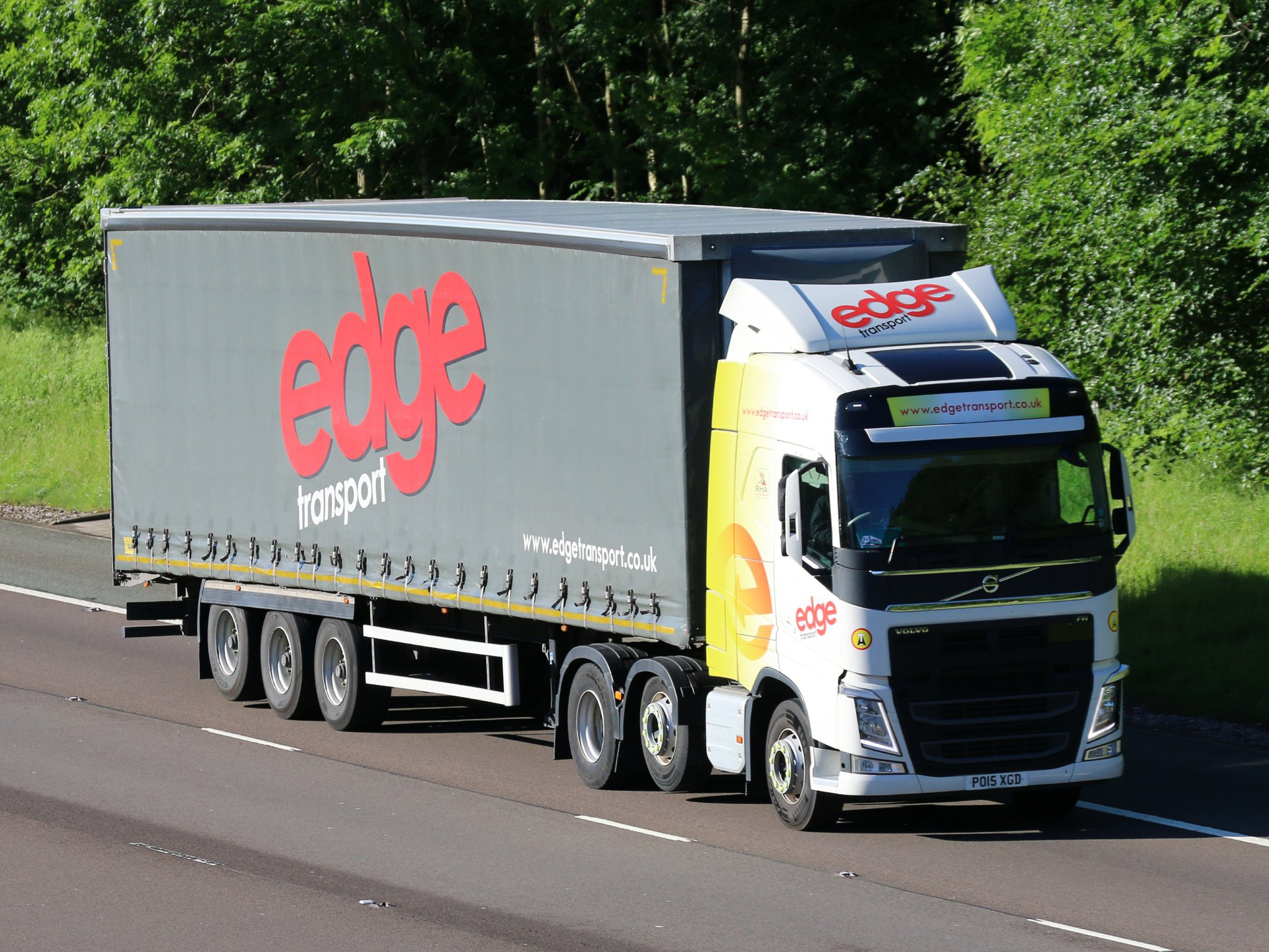 Edge Transport curtainsider Tiger tag