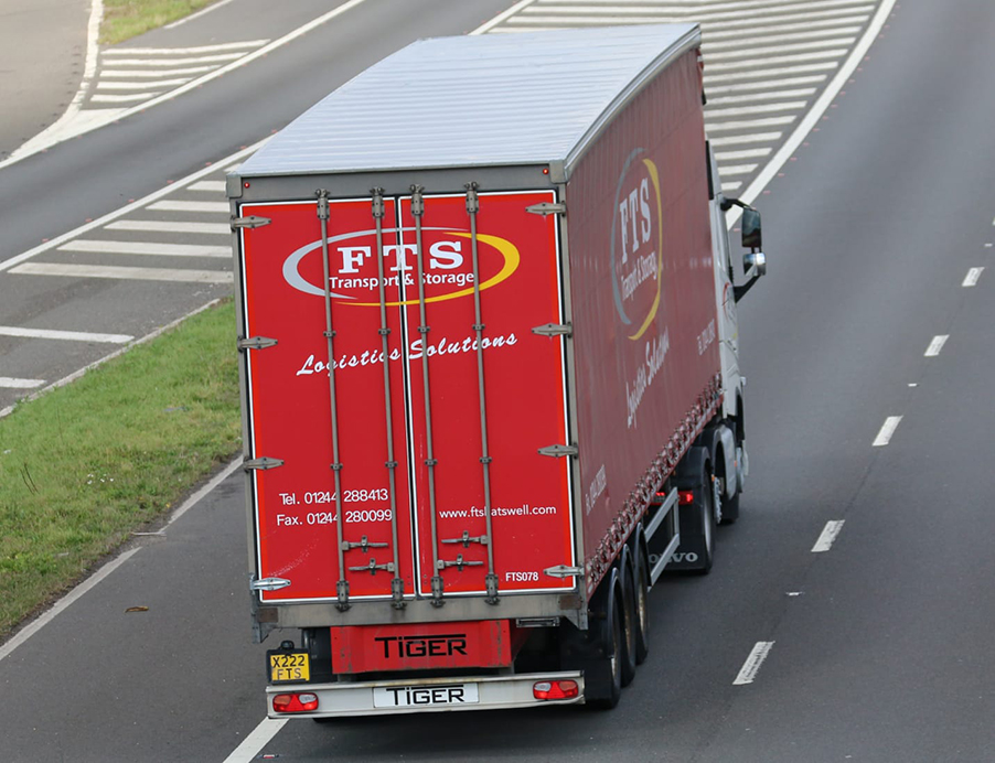 FTS Transport Storage Logistics Solutions trailer by Tiger