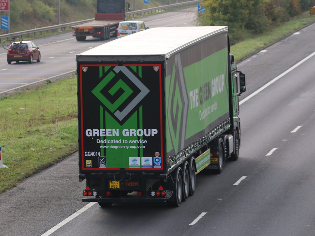 Green Group curtainsided trailer (Tiger) photo - Tim Pickford