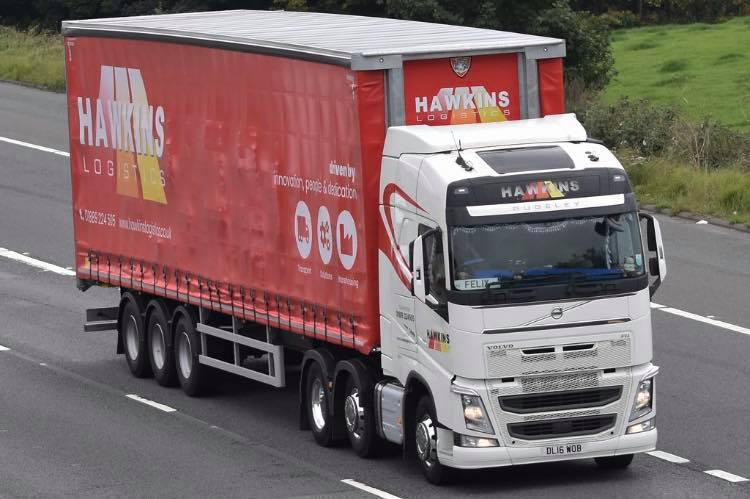Hawkins Logistics curtainsider Tiger tag by RMC Truck Photography