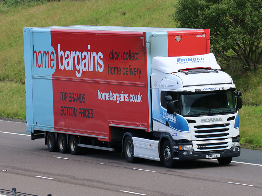 Home Bargains double deck trailer spot by Tim Pickford