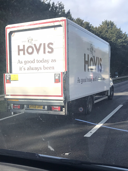 Hovis 7.5t rigid kerbside delivery van tail lift spot by Oily Coyley Auto Services