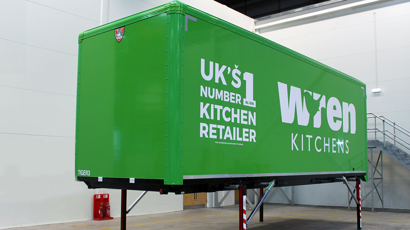 In-product CTA case study demount swap body Wren Kitchens