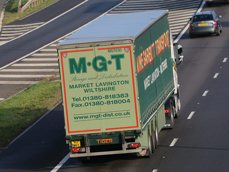 Mike Garbutt Transport curtainsider photo - Tim Pickford