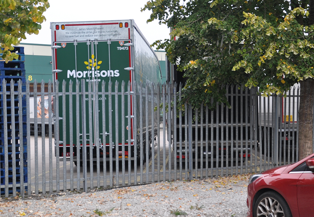 Morrisons heart double deck curtainsider Tiger Trailer spotted at Gadbrook RDC Cheshire