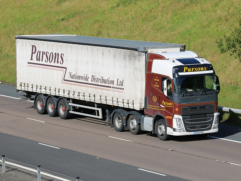 Parsons Nationwide Distribution Tiger curtainsider tag by Tim Pickford