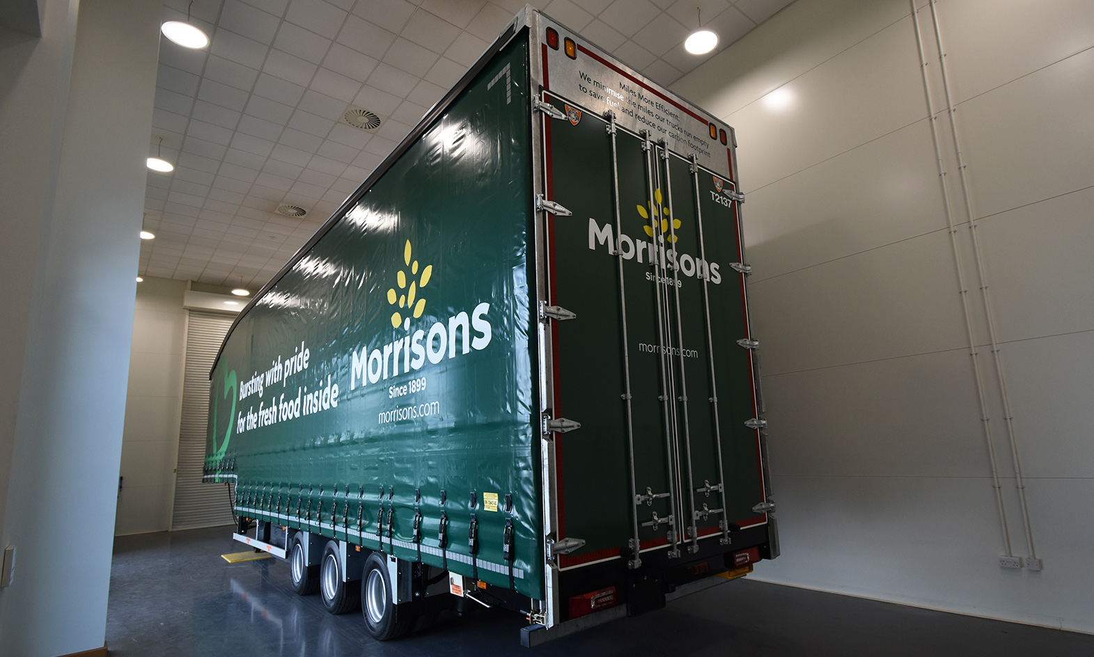 Profile Tiger Trailers showroom Morrisons double moving deck curtainsiders fresh