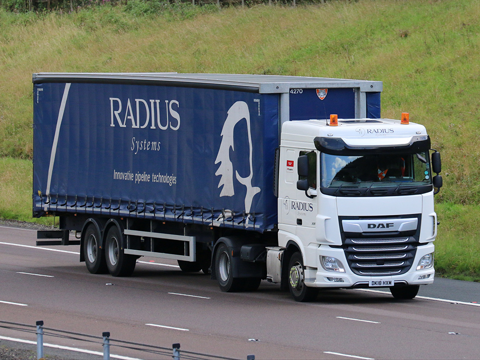 Radius Systems Tiger Trailers curtainsider spotted by Tim Pickford