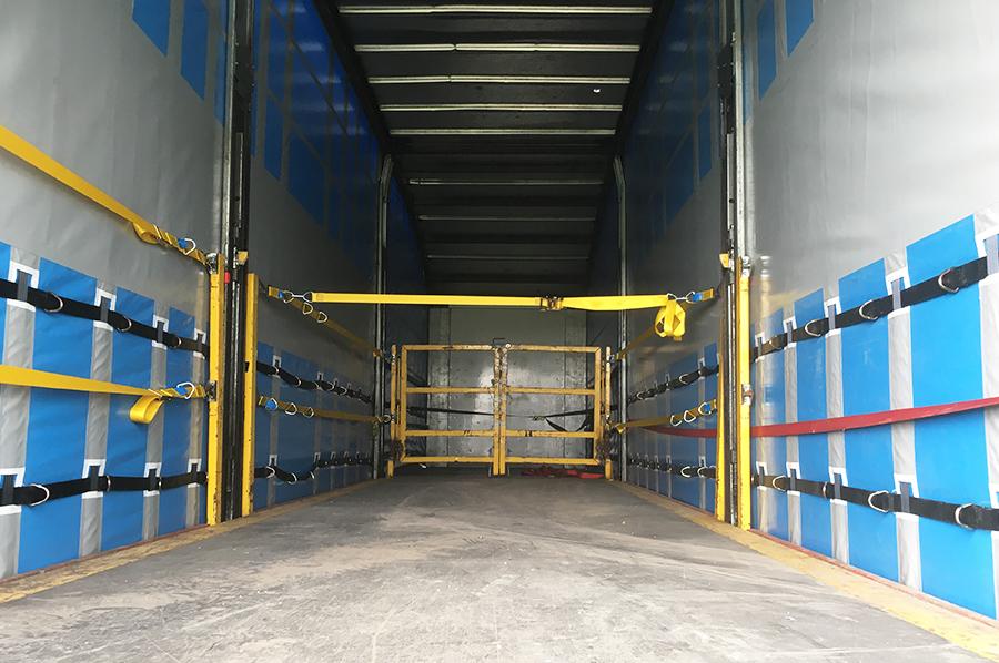 Rentals hire - photo trio - double deck curtainsider internal