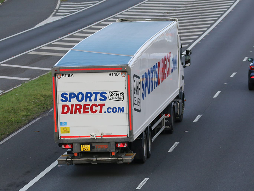 Sports Direct aerodynamic box van Tiger trailer - Tim Pickford