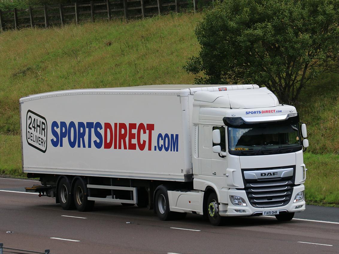Sports Direct box van tag by Tim Pickford