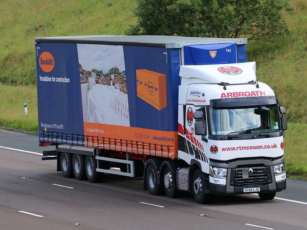 Sundolitt double deck curtainsider trailer by Tiger tag by Tim Pickford