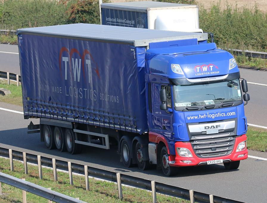 TWT Logistics Solutions curtainside Tiger trailer - Tim Pickford