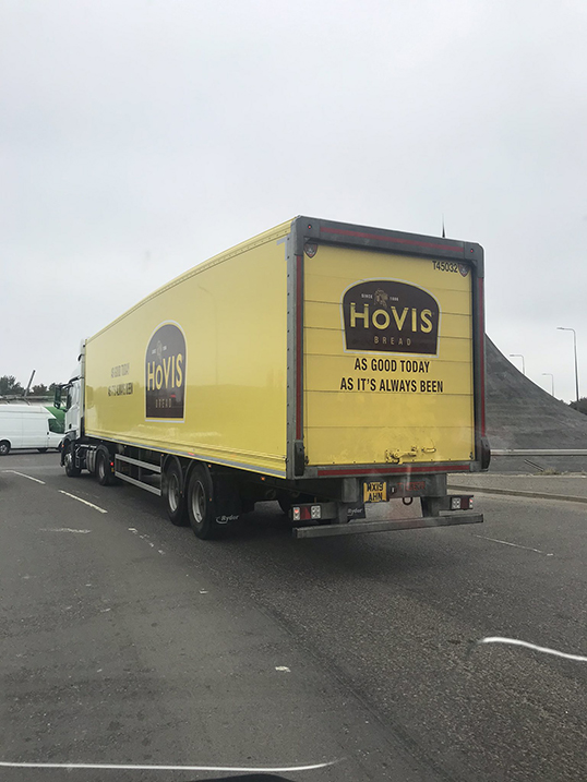 Tiger Trailers Hovis box van spot by Oily Coyley Auto Services