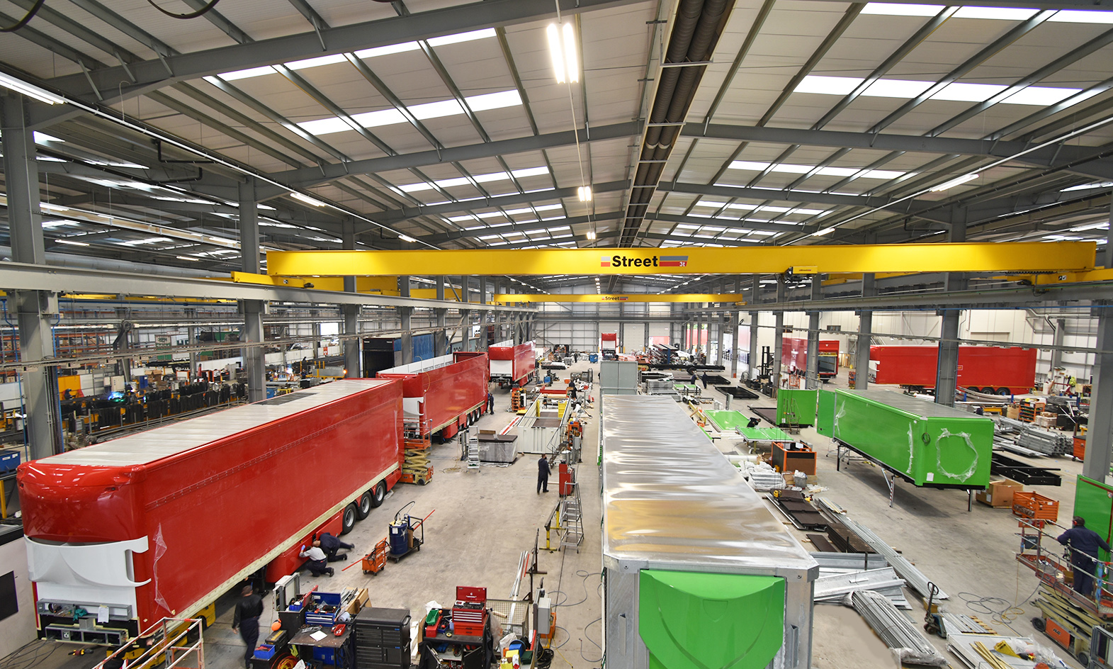 Tiger Trailers factory production Royal Mail moving double York