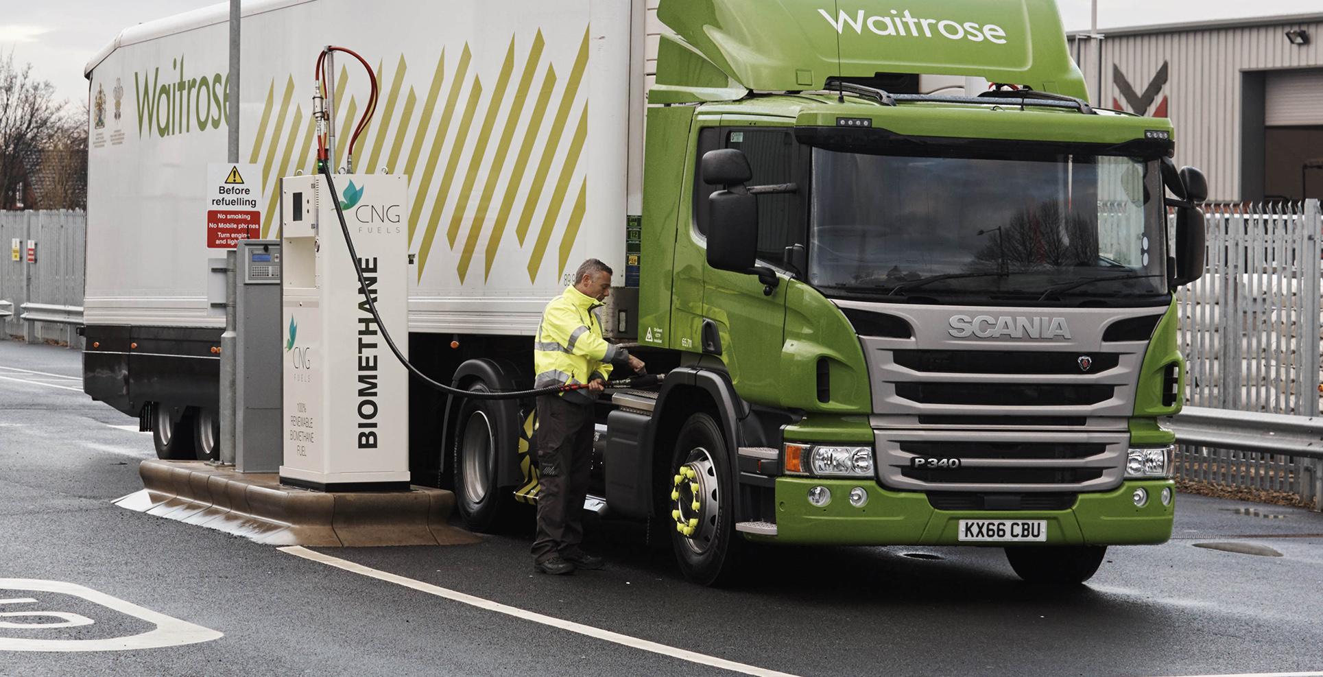 Alternative truck fuels - Bio Methane CNG Waitrose