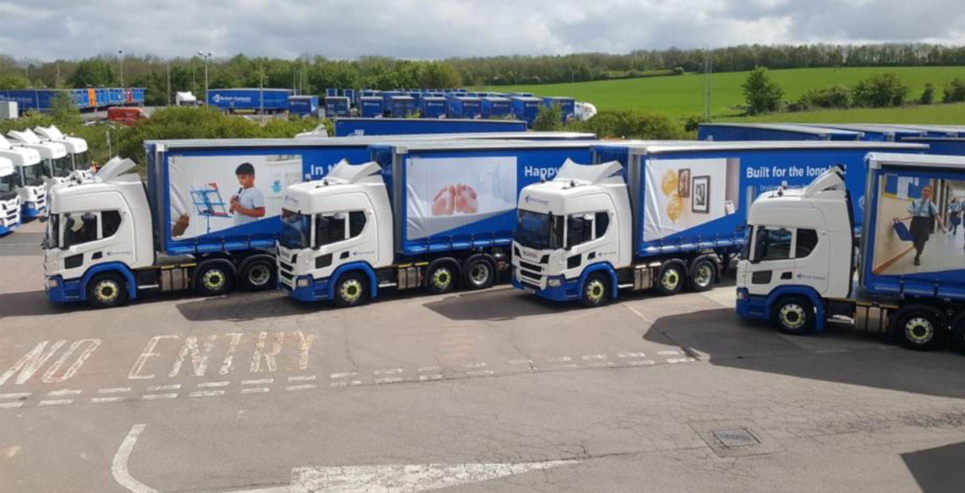 Hub - Direct Vision Standard DVS - British Gypsum Scania 4 5 star rigids curtainsiders