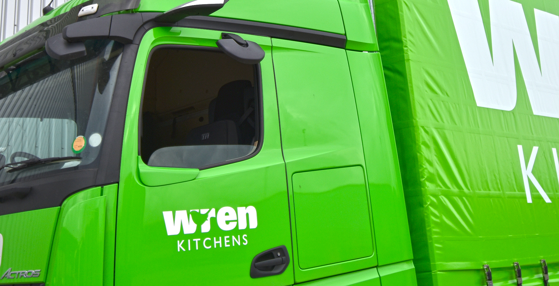 Hub - Direct Vision Standard DVS - Mercedes Actros MirrorCam cyclist safety Wren Kitchens