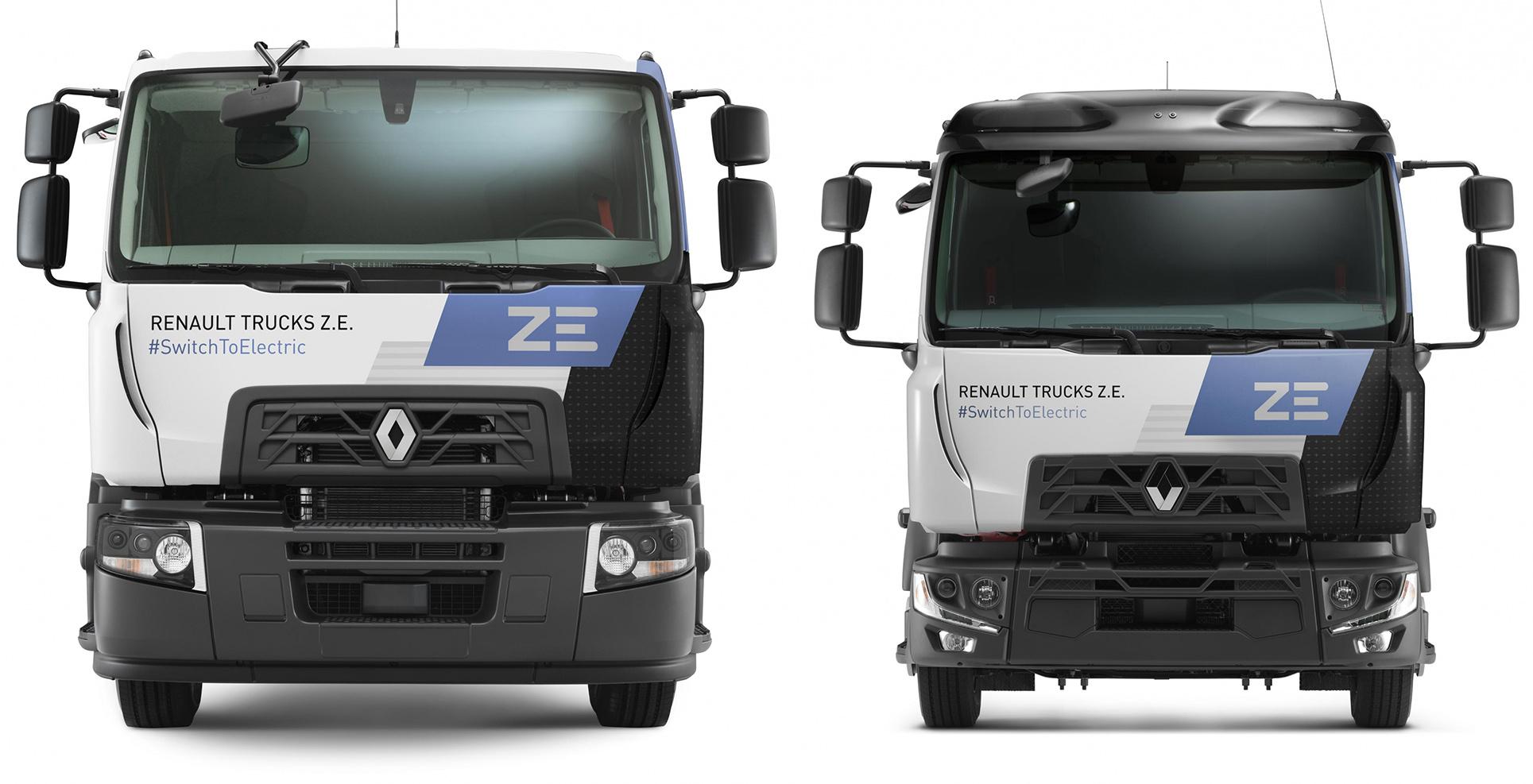 Renault Trucks plug-in hybrid, full electric D ZE rigids