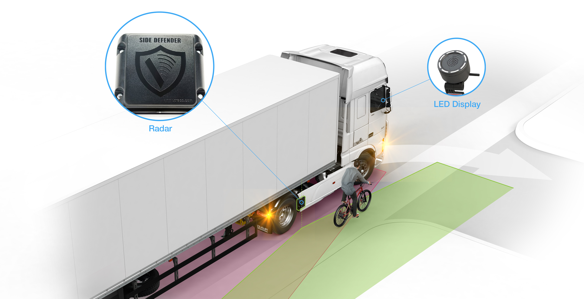 Safety DAF Trucks City Turn Assist safety technology system