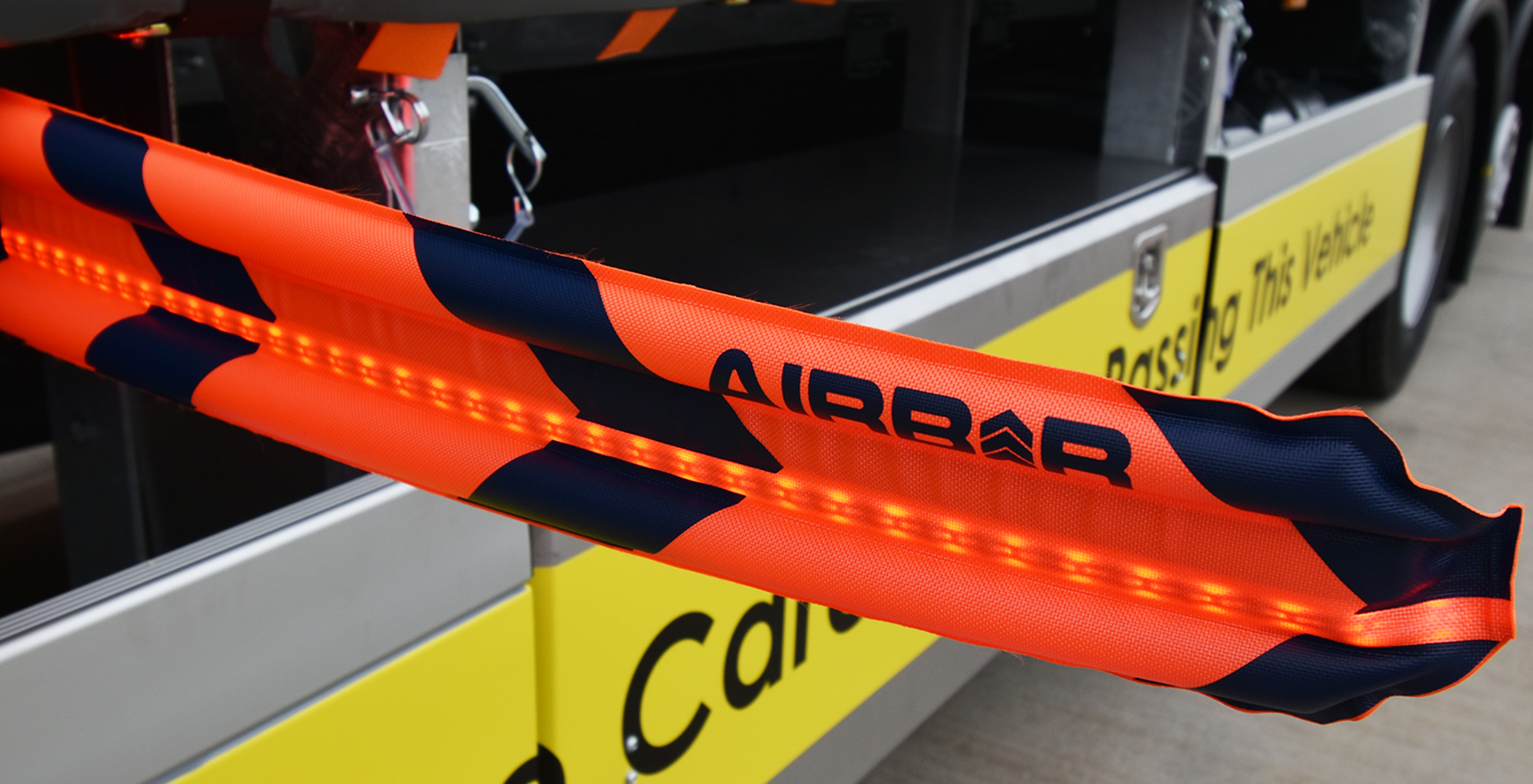 Safety cyclists trucks NuVech AirBar system solution trailers rigids