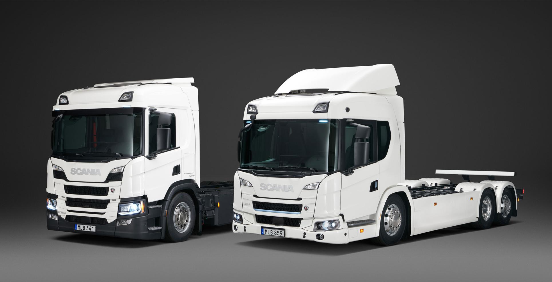 Scania electric, plug-in hybrid rigid trucks L P Series