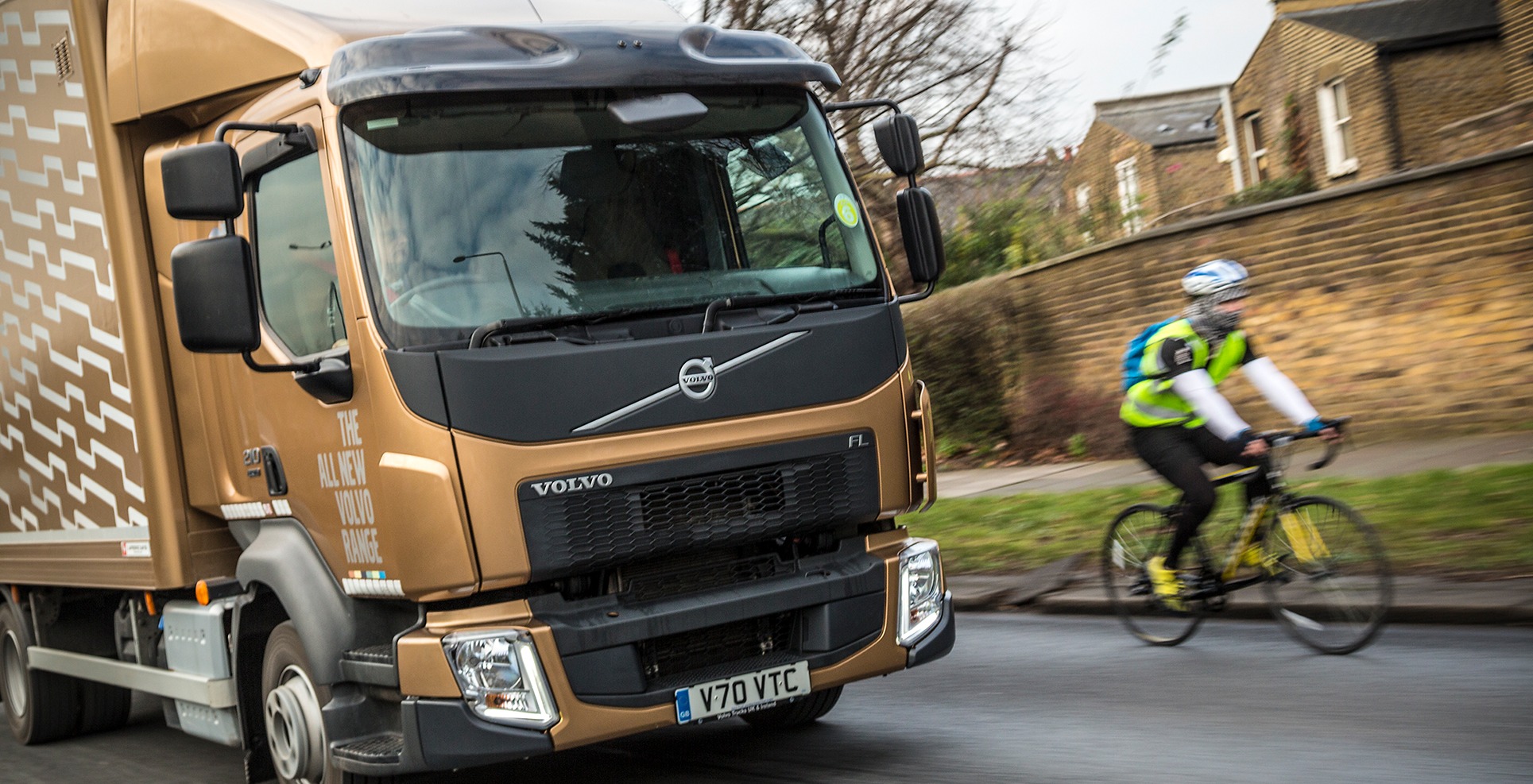 Volvo HGV truck cyclist safety DVS