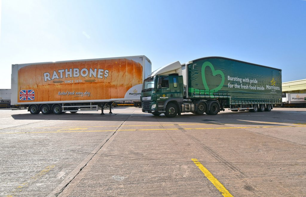 Tiger Trailers Rathbones bakery bread loaf livery moving double deck