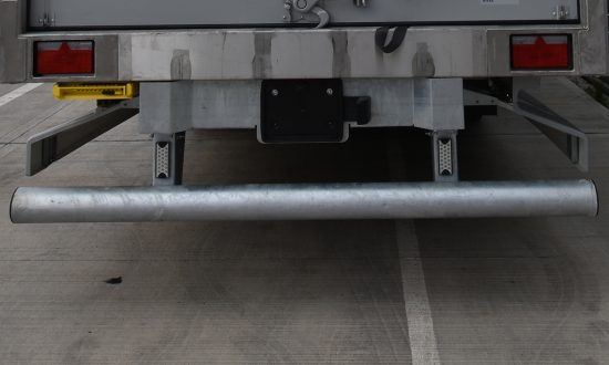 Galvanised rear under-run bar