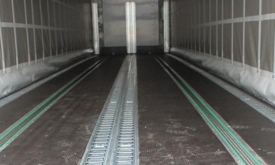 Roller-track floor