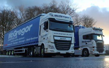Ten new Moffett curtainsider trailers join McGregor Logistics' fleet