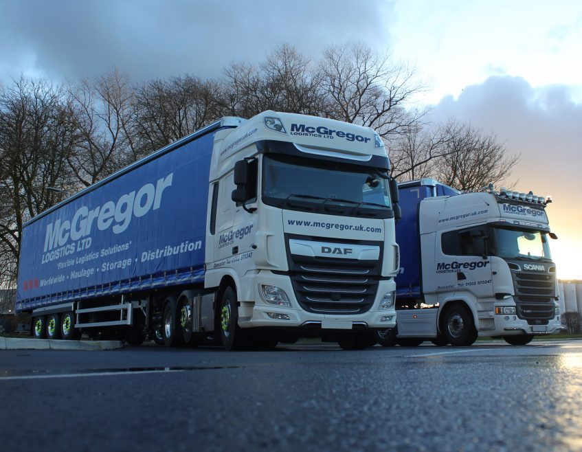 Ten new Moffett curtainsider trailers join McGregor Logistics' fleet