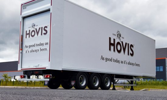 Thirty efficiency-focussed moving deck double deck Tiger Trailers put on Hovis' table