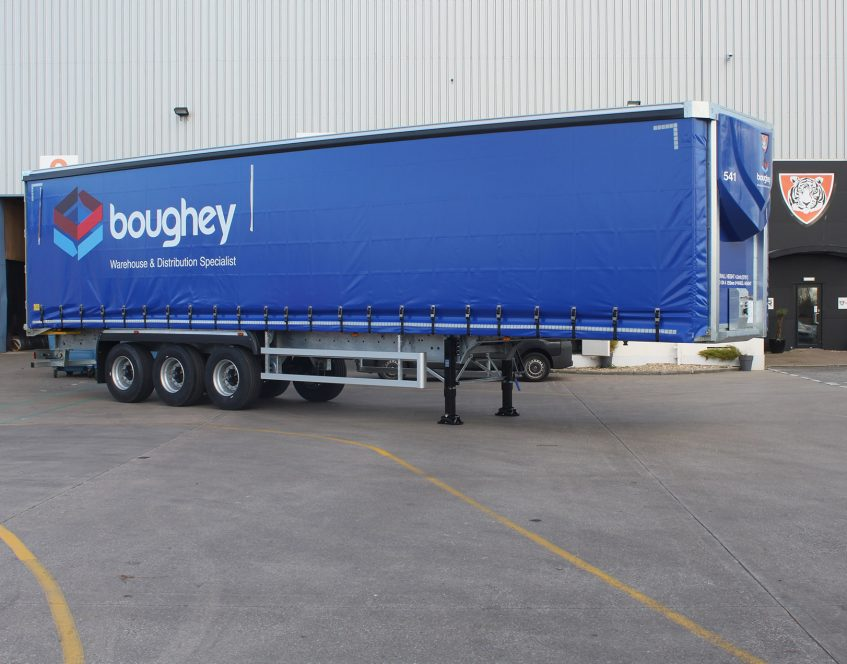 News - Boughey Distribution Nantwich Cheshire curtainsider fleet galvanised load restraint Michelin 01