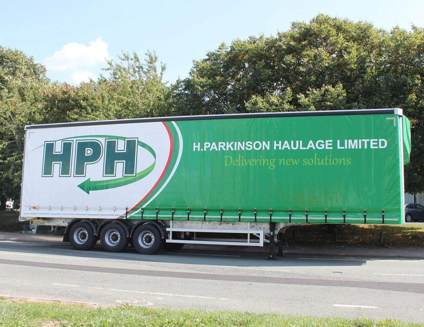Curtainsiders for H Parkinson Haulage HPH Lancashire side
