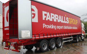 News - Farralls Group warehousing storage distribution curtainsiders rear doors streps straps