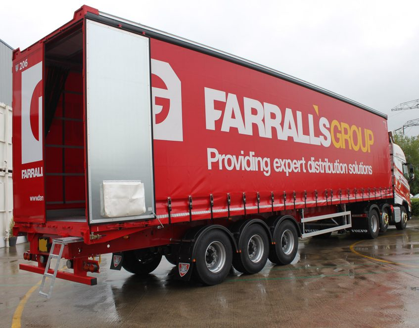 News - Farralls Group warehousing storage distribution curtainsiders rear doors streps straps