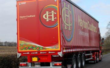 News - Hayton Coulthard Scottish haulier curtainsider fleet order V8 HCT Scania R730 truck